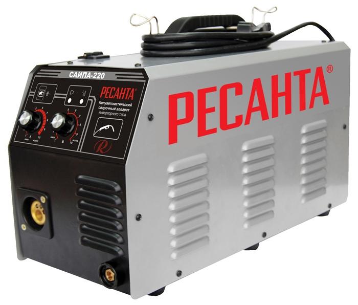 Сварочный аппарат Ресанта САИПА-220Сварочные аппараты<br><br><br>Тип: сварочный инвертор<br>Напряжение на входе: 198-242 В<br>Количество фаз питания: 1<br>Тип выходного тока: постоянный<br>Продолжительность включения при максимальном токе: 70 %<br>Степень защиты: IP21