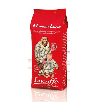 Кофе зерно LUCAFFE MAMMA LUCIA 1 кгКофе, какао<br>Натуральный кофе высшего сорта. Традиционная итальянская эспрессо смесь с интенсивным вкусом, идеально подходящим для утреннего кофе. Арабика 40%, pобуста 60%.<br><br>Тип: кофе в зернах