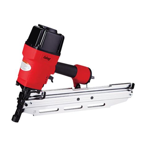 Гвоздезабиватель FUBAG N90Степлеры<br>Гвоздезабивной пистолет FUBAG N90 100156 широко используется для стяжки полов, крепления листовых материалов, сборки каркасов деревянных домов и прочего. Магазин расположен под углом к обрабатываемой поверхности. Он вмещает 50 гвоздей.<br><br>Тип: пневматические<br>Описание: давление 4-7,5 бар. Расход воздуха 120 л/мин. Сечение ножки 2,8 х 3,8 мм