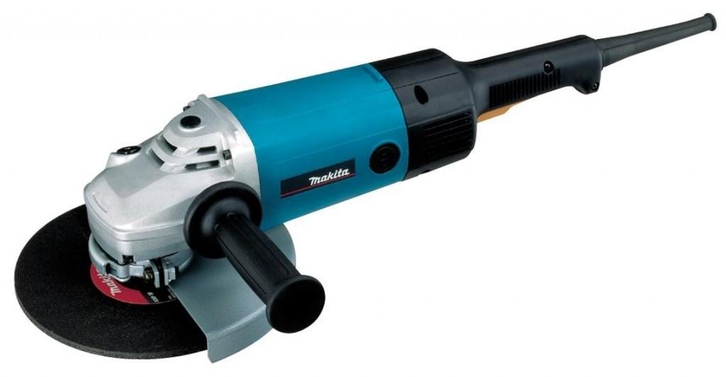 Угловая шлифмашина Makita 9077SFШлифовальные и заточные машины<br>- Предназначена для отрезных работ с бетоном и твердым камнем.<br>- Специальная система привода с муфтой Super-Joint System от Makita предотвращает рывки инструмента при работе и пуске.<br>- Ограничение пускового тока<br>- Лабиринтное уплотнение защищает мотор и подшипники от загрязнения.<br>- Установка защитного кожуха без специального инструмента.<br>- Опорная шайба Суперфланец облегчает демонтаж диска после работы.<br><br>Описание: система привода с муфтой (Super-Joint System).
