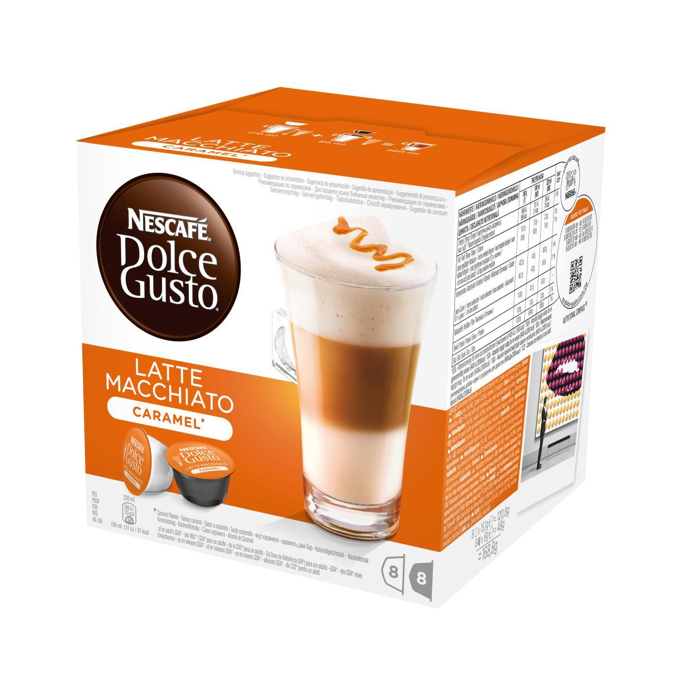 Кофе в капсулах Nescafe Dolce Gusto Latte Macchiato Caramel 16 капсул