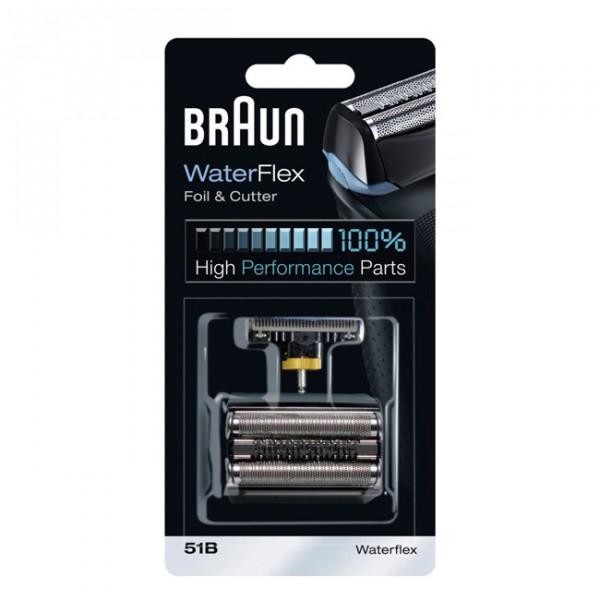 Сетка и режущий блок Braun series 5 51BАксессуары для бытовой техники<br>Стальной режущий блок и сетка 51B для электробритв Braun Series 5!<br>К лезвию прилагается очень удобная сетка, использование которой облегчит вам бритье.<br>Сетка и режущий блок 51B подойдут к нижеперечисленным моделям бритв Braun: 360° Complete, 5030s, 5040s, 5050cc, 5090cc, Activator, Contour Pro и Series 5.<br>Заточка режущего блока составляет целых 30 градусов! Это гарантирует не только успешное, но и удобное использование одновременно.<br>Цвет: серебристый, черный.<br>Материал изготовления: металл, нержавеющая сталь, пластик.<br>Если вы пользуетесь бритвой из серии Braun Series 5 – не забывайте докупать необходимые...<br><br>Тип: сетка + нож