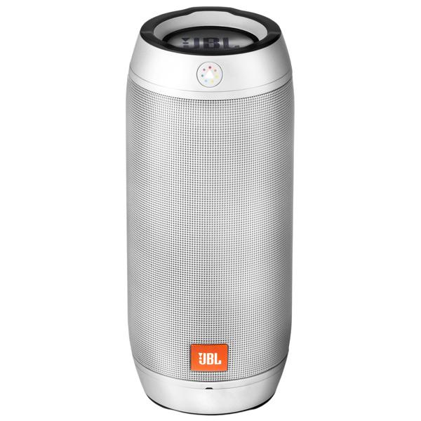 Акустическая система JBL Pulse 2 SilverАкустические системы<br><br><br>Тип: Беспроводные колонки<br>Состав комплекта: портативное аудио<br>Количество полос: 1<br>Мощность, Вт: 2x8 Вт<br>Диапазон воспроизводимых частот: 85 - 20000 Гц<br>Интерфейсы: Bluetooth