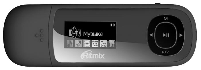 MP3 плеер Ritmix RF-3450 4Gb BlackMP3-плееры<br><br><br>Тип: Flash плеер<br>Тип носителя: Flash<br>Обьём встроенной памяти, Гб: 4<br>FM-тюнер: Есть