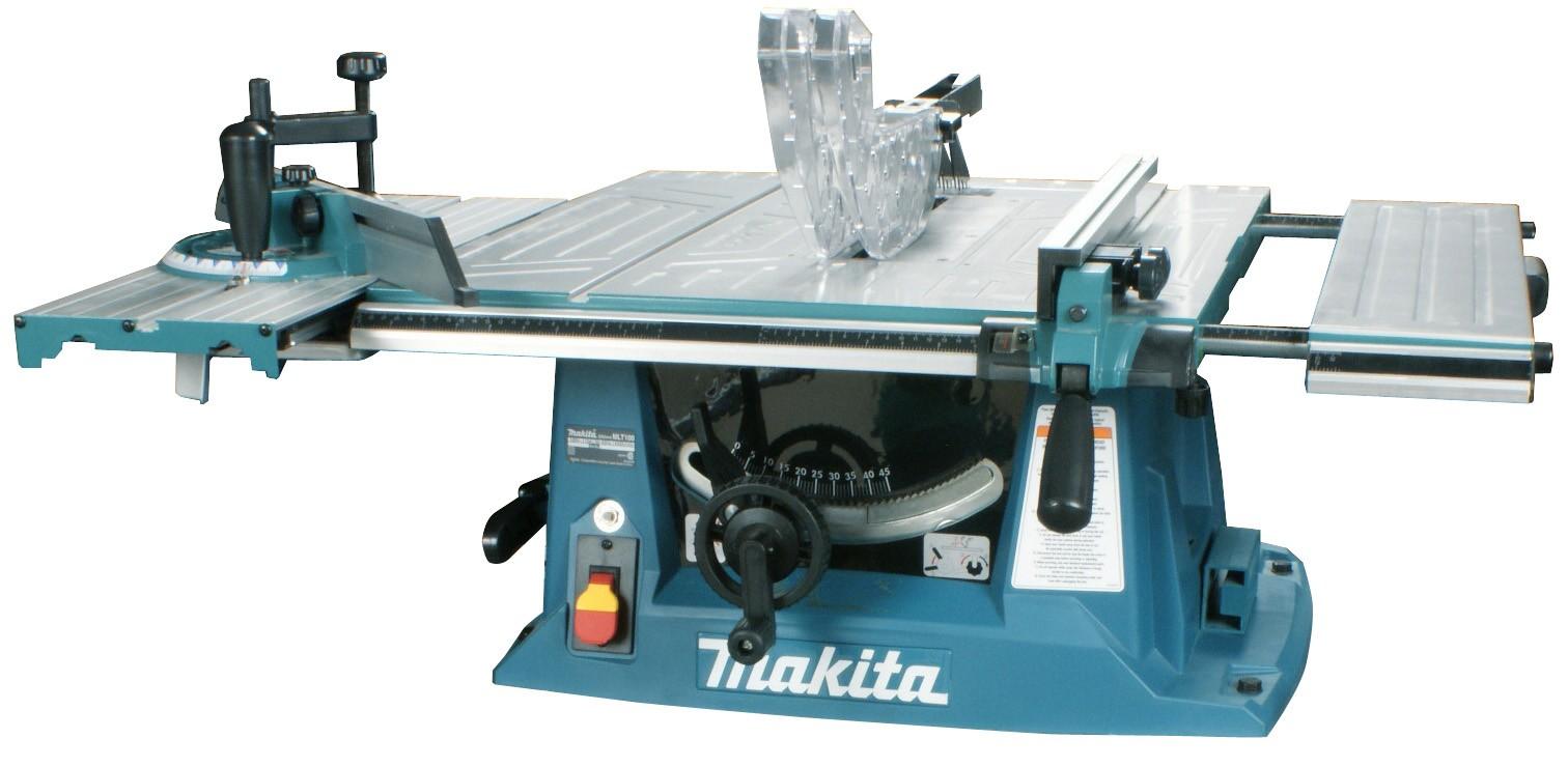 Дисковая пила Makita MLT100Пилы<br>- Пила настольная Makita MLT100 станет украшением любой мастерской по обработке древесины. Ее рабочие возможности могут быть востребованы как на бытовом, так и на профессиональном уровне. Пила представляет собой станок, который может фиксироваться на верстаке. Если же рабочий процесс предполагает частое перемещение инструмента, его можно установить на специальную тележку, которая приобретается отдельно.<br><br>- Пила настольная Макита MLT100 при довольно скромных габаритах очень удобна для работы с большими заготовками, поскольку оснащена раздвижным столом....<br><br>Тип: дисковая<br>Конструкция: станок<br>Мощность, Вт: 1500<br>Дополнительно: длина сетевого кабеля 2.5 м