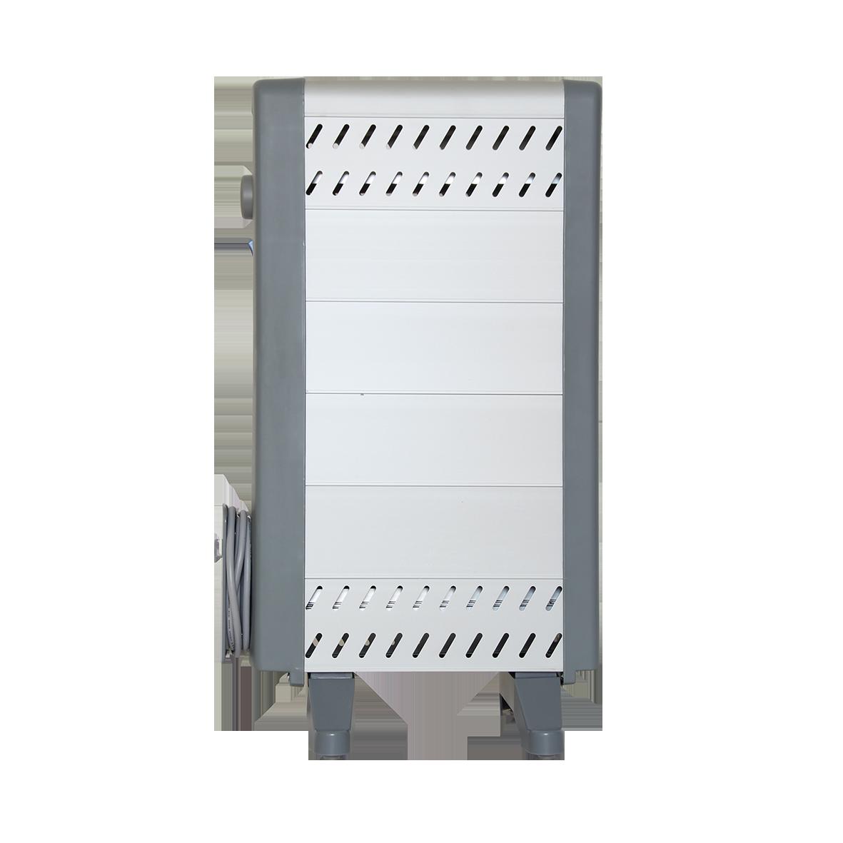 Конвектор Timberk TCR 510.HDAОбогреватели<br>Алюминиевый нагревательный элемент 5-ти уровней<br>Высокий уровень комфортности в работе, профилактике и обслуживании<br>Минимальный вес прибора и удобство в перемещении<br>Отсутствие посторонних запахов и абсолютная бесшумность работы<br>Прибор не сжигает пыль и кислород, сохраняя высокий уровень чистоты воздуха и экологию в доме<br>Высокий уровень безопасности работы<br>Встроенная защита от перегрева, замерзания и отключение при падении<br>Прибор имеет встроенный терморегулятор и три режима работы: Экономичный / Средний / Максимальный нагрев<br><br>Тип: конвектор<br>Серия: Timberk Professional<br>Максимальная мощность обогрева: 1000<br>Площадь обогрева, кв.м: 9<br>Отключение при перегреве: есть<br>Отключение при опрокидывании: есть<br>Габариты: 600х358х240 мм