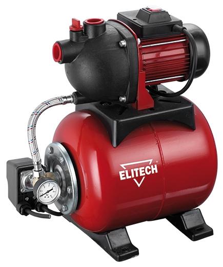 Насос Elitech САВ 600П/19Насосы<br>Насосная станция Elitech САВ 600П/19 предназначена для автоматического водоснабжения потребителей от источника воды до водоразборного узла, а также увеличения давления в действующей системе водоснабжения. Идеально подходит для водоснабжения малоэтажных домов, в которых отсутствует центральное водоснабжение.<br><br>- металлический гидроаккумулятор объемом 19 литров <br>- работа в автоматическом режиме <br>- прочный морозостойкий пластиковый корпус помпы <br>- выключатель с защитой от пыли и капель воды <br>- стандартная присоединительная резьба G1<br><br>- Заливная и...<br><br>Глубина погружения: 8 м<br>Максимальный напор: 35 м<br>Пропускная способность: 3 куб. м/час<br>Напряжение сети: 220/230 В<br>Потребляемая мощность: 600 Вт<br>Качество воды: чистая<br>Установка насоса: горизонтальная