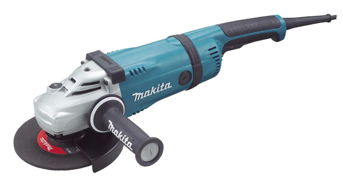 Угловая шлифмашина Makita GA9040SFKШлифовальные и заточные машины<br>Углошлифовальная машина Makita GA9040SFK предназначена для того, чтобы решать тяжелые задачи на высоком профессиональном уровне. Данный электроинструмент может без перерывов применяться на протяжении достаточно длительного времени, поэтому с его помощью легко справляться с большим количеством работ. Это обеспечивается мощным надежным двигателем и редуктором, имеющим усиленные шестерни. Стоит заметить, что мотор у описываемой модели имеет превосходную защиту от пыли, что увеличивает его долговечность и помогает лучше справляться с задачами в...<br>