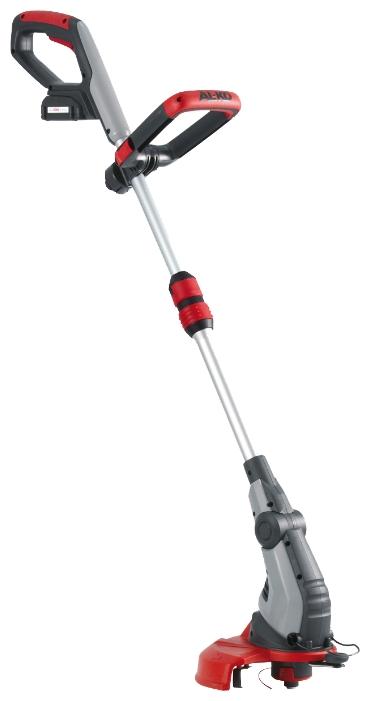 Триммер AL-KO 112927 GTLi 18V ComfortГазонокосилки и триммеры<br>Тщательное подравнивание в любом положении. Телескопическая ручка из алюминия с регулируемой рукояткой. Повортная и наклоняемая головка триммера.<br><br>Тип: триммер<br>Тип двигателя: электрический<br>Ширина скашивания, см: 25<br>Тип травосборника: без травосборника