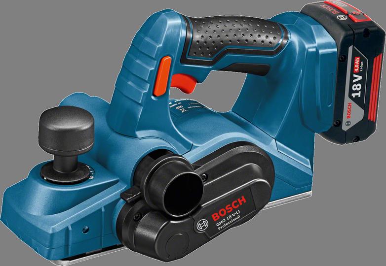 Электрорубанок Bosch GHO 18 V-LI Professional [06015A0300]Электрорубанки<br>- Тормоз двигателя для безопасной остановки<br>- Быстрая замена ножа для непрерывной работы<br>- Выбор стороны выброса опилок<br>- Эргономичная рукоятка с мягкой накладкой повышает удобство и безопасность работы даже при строгании вертикальных поверхностей<br>- Регулируемый отвод стружки &amp;#40;вправо/влево&amp;#41; позволяет «работать без стружки» в различных положениях &amp;#40;можно легко подсоединить сборник для стружки/пыли&amp;#41;<br>- Блокируемая кнопка исключает случайное включение инструмента<br>- Система Electronic Cell Protection &amp;#40;ECP&amp;#41; защищает аккумулятор от перегрузки, перегрева...<br><br>Мощность Вт: 1<br>Максимальное количество оборотов: 14 000<br>Максимальная глубина строгания: 1,6 мм<br>Ширина ножей: 82 мм<br>Максимальная глубина выборки паза: 8 мм<br>Описание: значение вибрации ah: 3 м/с?. Коэффициент неточности K 1,5 м/с?