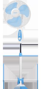 Вентилятор Scarlett SC-371 WhiteВентиляторы<br><br><br>Тип: напольный<br>Рабочий механизм: осевой<br>Мощность, Вт: 45<br>Диаметр лопастей, см: 40<br>Угол поворота: 90 градусов<br>Регулировка высоты: есть<br>Количество скоростей вращения лопастей: 3