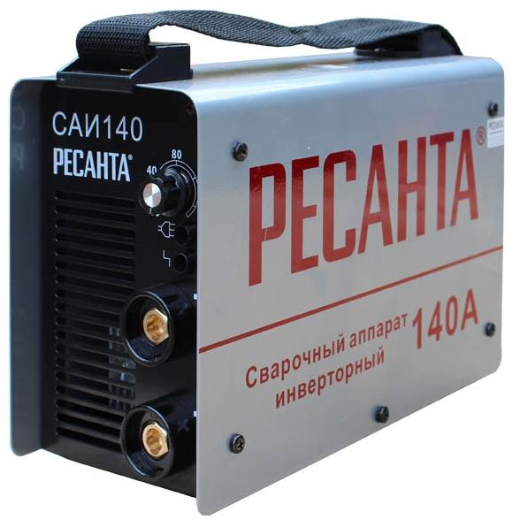 Сварочный аппарат Ресанта САИ-140Сварочные аппараты<br><br><br>Тип: сварочный инвертор<br>Сварочный ток (MMA): 10-140 А<br>Напряжение на входе: 140-260 В<br>Количество фаз питания: 1<br>Напряжение холостого хода: 75 В<br>Тип выходного тока: постоянный<br>Продолжительность включения при максимальном токе: 70 %<br>Диаметр электрода: 3.20 мм<br>Антиприлипание: есть<br>Горячий старт: есть