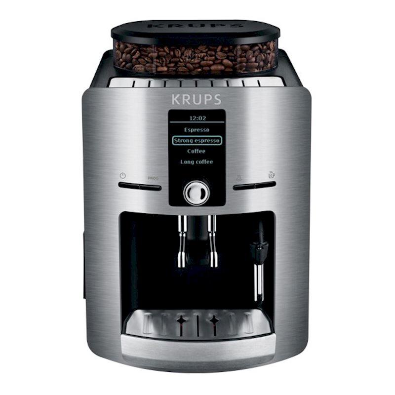 Кофемашина Krups EA826E30Кофеварки и кофемашины<br><br><br>Тип используемого кофе: Зерновой<br>Мощность, Вт: 1450<br>Объем, л: 1.8<br>Давление помпы, бар  : 15<br>Материал корпуса  : Металл<br>Емкость контейнера для зерен, г  : 275<br>Одновременное приготовление двух чашек  : Есть<br>Подогрев чашек  : Есть<br>Контейнер для отходов  : Есть<br>Съемный лоток для сбора капель  : Есть