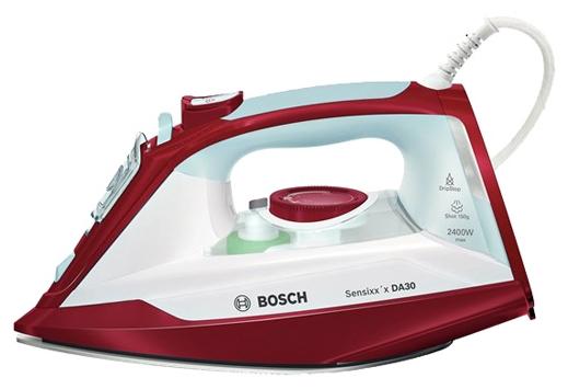 Утюг Bosch TDA 3024010Утюги и гладильные системы<br><br><br>Тип : Утюг<br>Мощность, Вт: 2400<br>Постоянная подача пара: Есть<br>Скорость постоянной подачи пара, г/мин: 40<br>Регулировка подачи пара: Есть<br>Паровой удар, г/мин: 150<br>Вертикальное отпаривание: Есть<br>Функция разбрызгивания: Есть<br>Система самоочистки: Есть<br>Противокапельная система: Есть