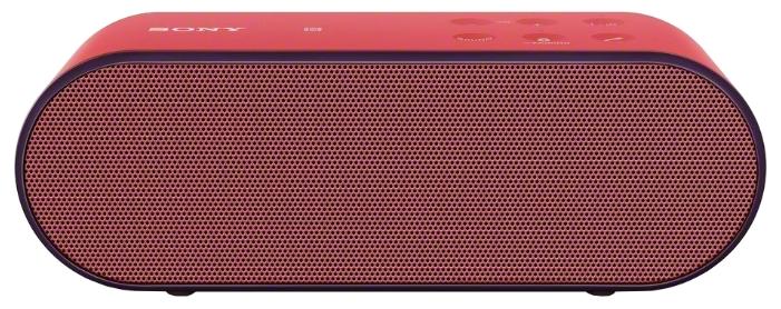 Беспроводные колонки Sony SRS-X2 RedАкустические системы<br><br><br>Тип: Беспроводные колонки<br>Состав комплекта: колонки<br>Количество полос: 1<br>Мощность, Вт: 2x10<br>Интерфейсы: Bluetooth, линейный (разъем mini jack)