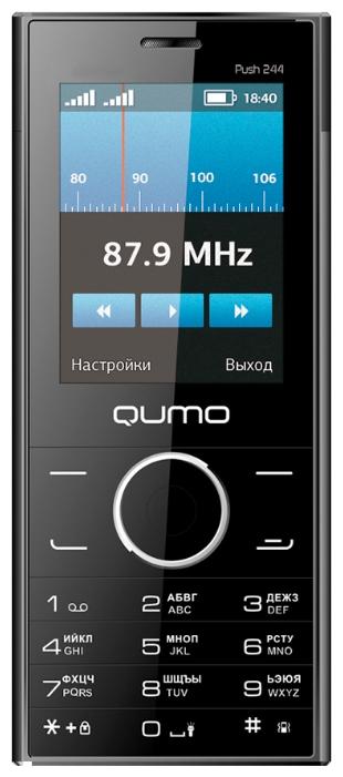 Мобильный телефон QUMO Push 244 Slim BlackМобильные телефоны<br><br><br>Тип: Мобильный телефон<br>Стандарт: GSM 900/1800<br>Тип трубки: классический<br>Поддержка двух SIM-карт: есть<br>Разъём для карт памяти: microSD<br>Фотокамера: 0.30 млн пикс.<br>Разъем для наушников: 3.5 мм