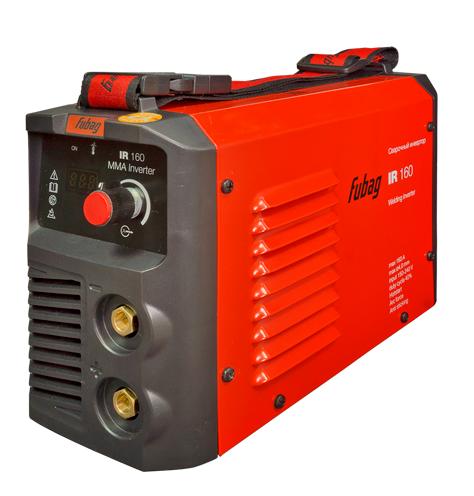 Сварочный аппарат FUBAG IR 160Сварочные аппараты<br>Оптимальный выбор, когда нужен аппарат для дома или периодических работ на стройке, не связанных со сваркой массивных металлоконструкций. Превосходное качество сварного шва и лёгкость работы, низкое потребление электроэнергии и устойчивость к перепадам напряжения питания. Малый вес, небольшие габариты и удобная рукоятка позволяют уверенно работать, держа аппарат на весу. <br><br>- Панель управления аппаратом <br>Цифровой дисплей отображает значение сварочного тока. Пользователь имеет возможность легкого контроля за параметром и точной настройки...<br><br>Тип: сварочный инвертор<br>Сварочный ток (MMA): 25-160 А<br>Напряжение на входе: 150-240 В<br>Количество фаз питания: 1<br>Напряжение холостого хода: 65 В<br>Тип выходного тока: постоянный<br>Мощность, кВт: 6.60<br>Продолжительность включения при максимальном токе: 40 %<br>Диаметр электрода: 1.60-4 мм<br>Класс изоляции: H