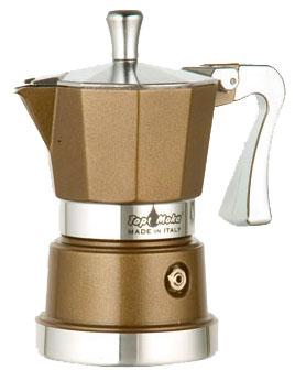 Кофеварка Top Moka Caffettiera Super Top 6 п. BronzeКофеварки и кофемашины<br><br><br>Тип : гейзерная кофеварка<br>Объем, л: 0,24<br>Материал корпуса  : Металл