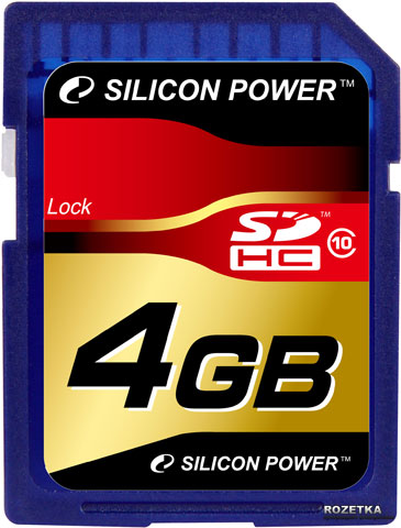 Карта памяти Silicon Power SDHC 4GB Class 10 / SP004GBSDH010V10Карты памяти<br><br><br>Тип: Карта памяти<br>Тип карты памяти: Secure Digital HC<br>Объем памяти: 4 Гб<br>Класс скорости: Class10