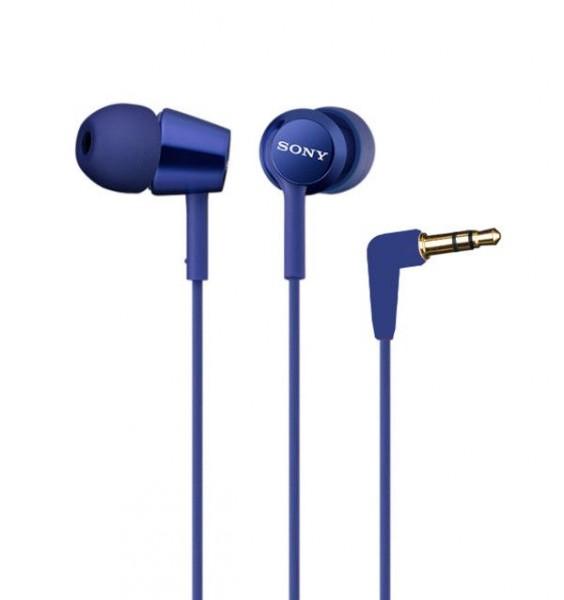 Наушники Sony MDR-EX150LI BlueНаушники и гарнитуры<br><br><br>Тип: наушники<br>Тип акустического оформления: Закрытые<br>Вид наушников: Вкладыши<br>Тип подключения: Проводные<br>Диапазон воспроизводимых частот, Гц: 5 -24000<br>Сопротивление, Импеданс: 16 Ом<br>Чувствительность дБ: 103