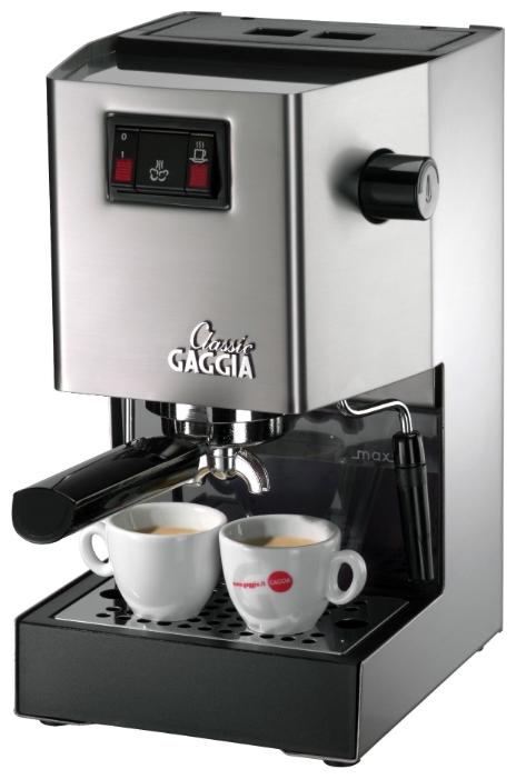Кофемашина Gaggia ClassicКофеварки и кофемашины<br><br><br>Тип используемого кофе: Молотый<br>Мощность, Вт: 1425<br>Объем, л: 1.5<br>Давление помпы, бар  : 15<br>Одновременное приготовление двух чашек  : Есть<br>Подогрев чашек  : Есть