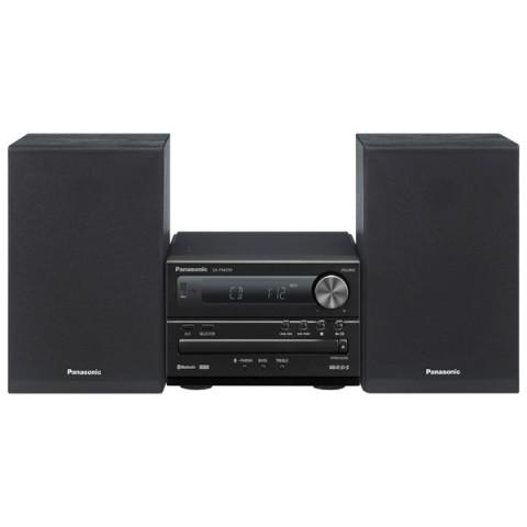 Микросистема Panasonic SC-PM250EE-KМинисистемы и магнитолы<br>Panasonic SC-PM250EE — беспроводная 2-полосная микросистема общей выходной мощностью 20 Вт с возможностью вопроизведения музыки с USB-носителей.<br><br>- Динамичный бас<br>Помимо повышения качества звучания за счет подавления внутренней вибрации, также удалось смягчить материал кромок, поддерживающих диффузор, и оптимизировать вес диффузора в целях обеспечения глубокого и насыщенного баса.<br><br>- Обеспечивает возможность воспроизведения музыки по беспроводной сети<br>Аудиоданные с совместимого устройства отправляются на микросистему посредством беспроводного соединения....<br><br>Тип: Микросистема<br>Основной блок: Одноблочная<br>Комплект акустических систем: 2.0<br>Полная выходная мощность (RMS): 20<br>FM-приемник: Есть<br>Поддерживаемые форматы: MP3<br>Поддерживаемые носители: CD, CD-R, CD-RW<br>Количество CD/DVD дисков: 1<br>Bluetooth: Есть