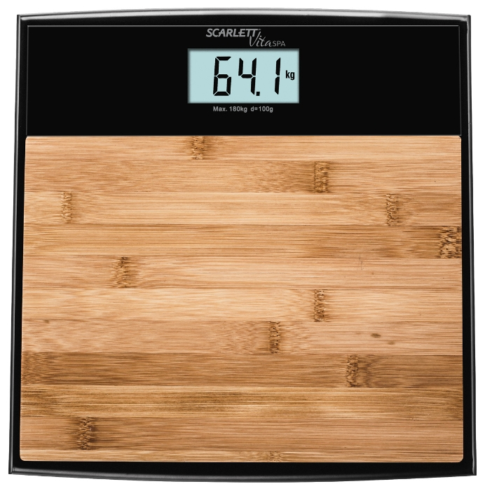 Весы Scarlett SC-BS33E064Весы<br><br><br>Тип: электронные<br>Предел взвешивания, кг: 180<br>Точность измерения, г: 1