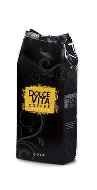 Кофе в зернах Dolce Vita Gold 100% arabica 1 кгКофе, какао<br>Происхождение: Центральная Америка, Африка. Обладает цветочным и пряным ароматом. Вкус с легкой кислинкой и длительным послевкусием.<br><br>Тип: кофе в зернах<br>Обжарка кофе: средняя<br>Состав: 100% Арабика<br>Дополнительно: состав: 100% Арабика