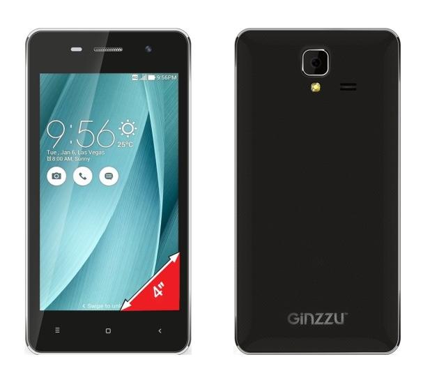 Мобильный телефон Ginzzu S4010 BlackМобильные телефоны<br><br><br>Тип: Смартфон<br>Тип трубки: классический<br>Поддержка двух SIM-карт: есть<br>Встроенная память: 4 Гб<br>Фотокамера: 5.0 Мп<br>Процессор: Cortex-A7<br>Количество ядер процессора: 2<br>Видеопроцессор: Mali-400<br>Объем оперативной памяти Мб.: 512<br>Тип сенсорного экрана: мультитач, емкостной