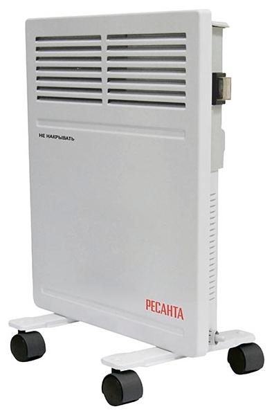 Конвектор Ресанта ОК-500Обогреватели<br><br><br>Тип: конвектор<br>Максимальная мощность обогрева: 500 Вт<br>Влагозащитный корпус: есть<br>Управление: механическое<br>Напольная установка: есть<br>Колеса для перемещения: есть<br>Напряжение: 220/230 В