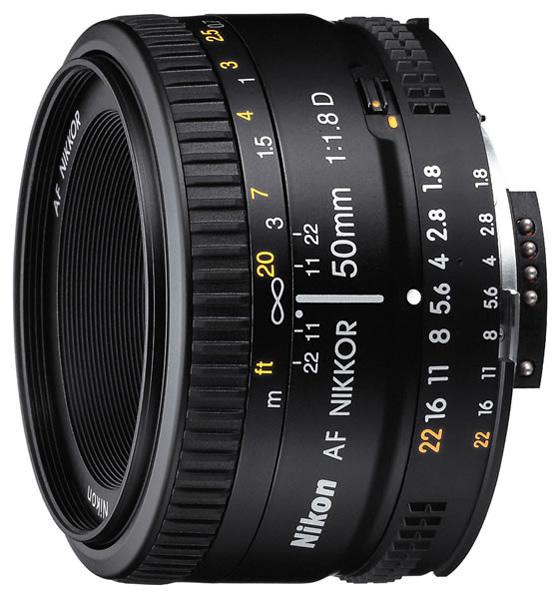 Объектив Nikon AF50mm f/1.8D (JAA013DA)Объективы<br><br><br>Фокусное расстояние: 50 мм<br>Диафрагма: F1.80<br>Минимальная диафрагма: F22<br>Крепление: Nikon F<br>Автоматическая фокусировка: есть<br>Число элементов / групп элементов: 6 / 5<br>Число низкодисперсных элементов: 7<br>Угол обзора: 46 град.мин<br>Минимальное расстояние фокусировки: 0.45 м