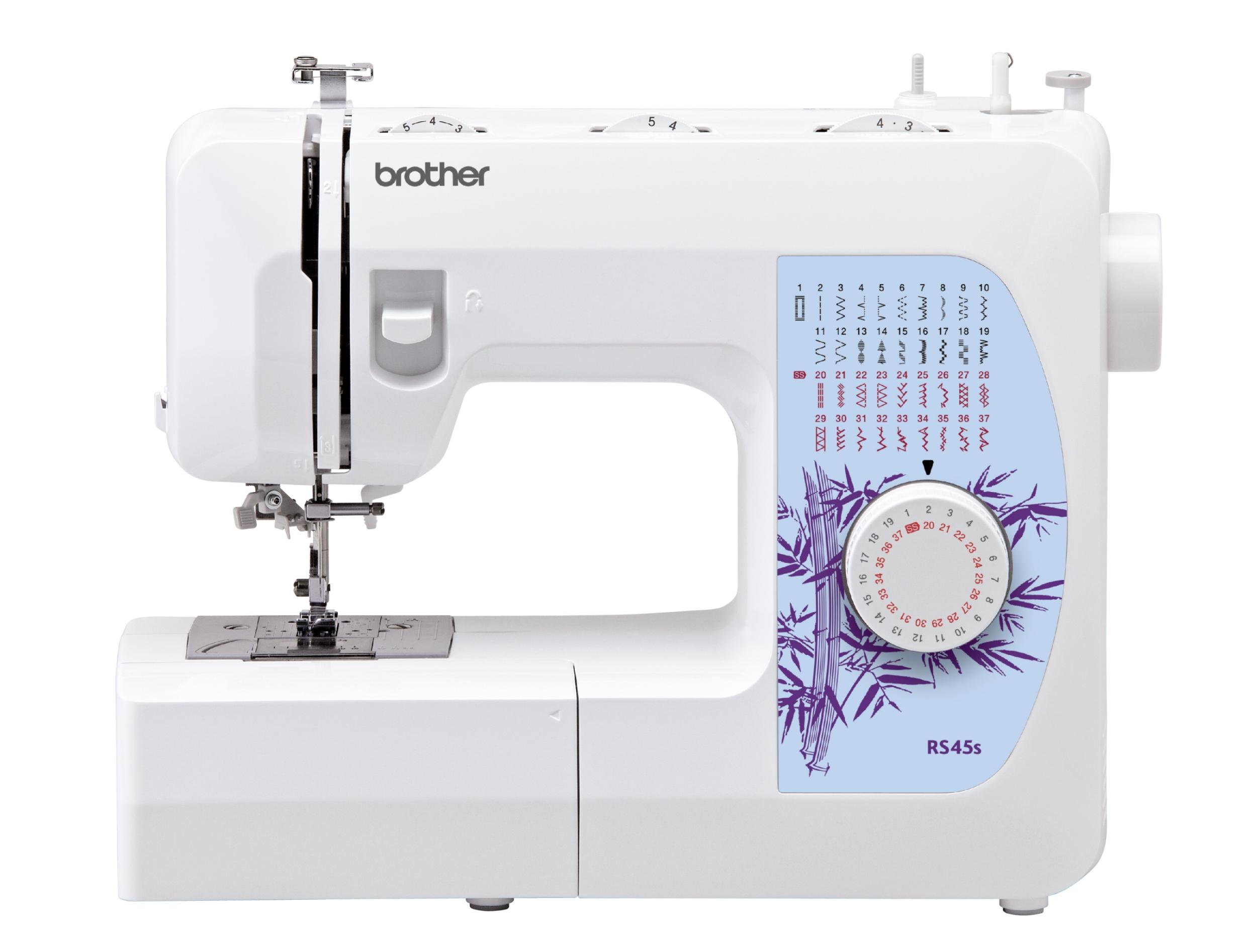 Швейная машина Brother RS-45SШвейные машины<br><br><br>Тип: электромеханическая<br>Тип челнока: ротационный горизонтальный<br>Количество швейных операций: 37<br>Выполнение петли: автомат