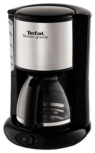 Кофеварка Tefal CM361838Кофеварки и кофемашины<br><br><br>Тип : капельная кофеварка<br>Тип используемого кофе: Молотый<br>Мощность, Вт: 1000<br>Объем, л: 1.25<br>Фильтр  : Постоянный /Одноразовый<br>Материал корпуса  : Пластик<br>Съемный лоток для сбора капель  : Нет