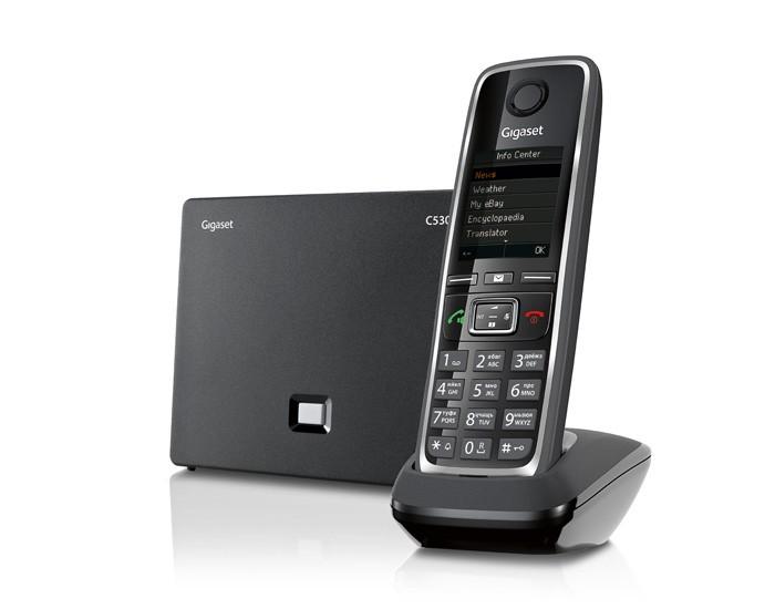 IP-телефон Gigaset C530A IP, BlackSIP-телефоны<br><br><br>Поддержка H.323: есть<br>Поддержка DECT: есть<br>Поддержка GAP: есть<br>Подключение гарнитуры: есть<br>Встроенная телефонная книг: 200<br>Удержание, ожидание вызова: есть<br>Конференц-связь: есть
