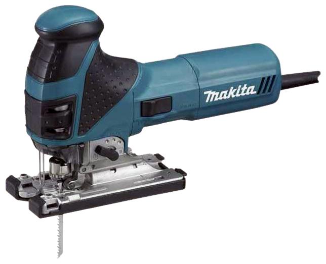 Лобзик Makita 4351CTЛобзики электрические<br><br><br>Потребляемая мощность: 720 Вт<br>Частота движения пилки: 800 - 2800 ходов/мин<br>Длина хода: 26 мм<br>Глубина пропила дерева: 135 мм<br>Глубина пропила стали: 10 мм<br>Рукоятка: грибовидная, обрезиненная<br>Работа от аккумулятора: нет