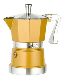 Кофеварка Top Moka Caffettiera Super Top 6 п. GoldКофеварки и кофемашины<br><br><br>Тип : гейзерная кофеварка<br>Объем, л: 0,24<br>Материал корпуса  : Металл