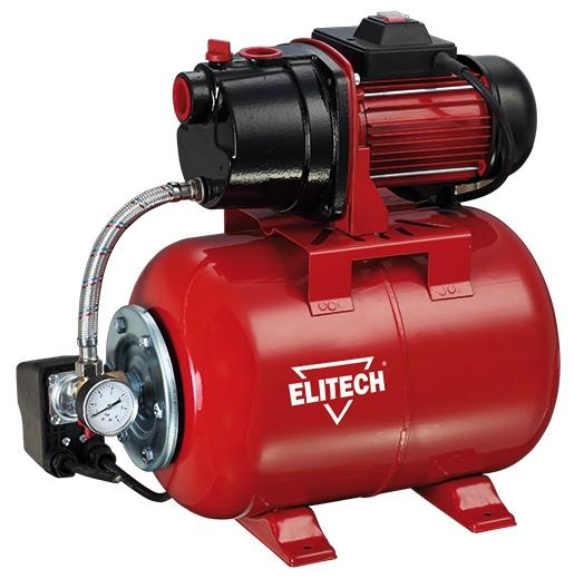Насос Elitech САВ 1300Ч/24Насосы<br>Насосная станция Elitech САВ 1300Ч/24 предназначена для автоматического водоснабжения потребителей от источника воды до водоразборного узла, а также увеличения давления в действующей системе водоснабжения. Идеально подходит для водоснабжения малоэтажных домов, в которых отсутствует центральное водоснабжение.<br><br>- металлический гидроаккумулятор объемом 24 литра <br>- работа в автоматическом режиме <br>- малошумная чугунная помпа <br>- выключатель с защитой от пыли и капель воды <br>- стандартная присоединительная резьба G1<br>- Заливная и сливная пробка откручивается...<br><br>Глубина погружения: 8 м<br>Максимальный напор: 50 м<br>Пропускная способность: 3.9 куб. м/час<br>Напряжение сети: 220/230 В<br>Потребляемая мощность: 1300 Вт<br>Качество воды: чистая<br>Установка насоса: горизонтальная