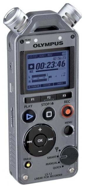 Диктофон Olympus LS-12Диктофоны<br><br><br>Тип: Цифровой диктофон<br>Разём для карт памяти: Secure Digital<br>Встроенный динамик: есть