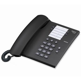 Проводной телефон Gigaset DA100 (Siemens)Проводные телефоны<br>Gigaset da100: выбор в пользу качества!<br>Gigaset — фирма, которой привыкли доверять, ведь уже много лет она выпускает исключительно качественную технику для телефонной связи. Именно поэтому проводной телефон Gigaset da100 пользуется огромной популярностью, как среди офисных работников, так и среди тех, кто приобретает такую модель для домашнего использования.<br>Строгий и очень стильный дизайн, наличие всех нужных функций, включая тональный набор и регулятор громкости звонка, — этот телефон станет вашим надежным помощником в любых переговорах. Ведь купить ...<br><br>Тип: проводной телефон<br>Повторный набор номера: есть<br>Тональный набор: есть<br>Регулятор уровня громкости: есть<br>Возможность настенной установки: есть