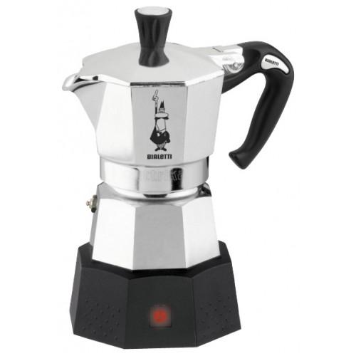 Кофеварка Bialetti Elettrica 2 п. 2778Кофеварки и кофемашины<br><br><br>Тип : гейзерная кофеварка<br>Тип используемого кофе: Молотый<br>Материал корпуса  : Металл<br>Одновременное приготовление двух чашек  : Нет<br>Съемный лоток для сбора капель  : Нет
