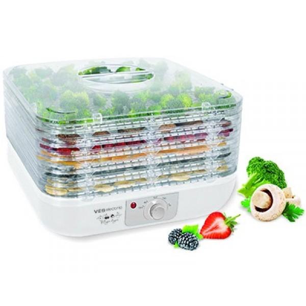 Сушилка для овощей VES VMD 6Домашние помощники<br><br><br>Тип: сушилка для овощей<br>Мощность, Вт.: 350<br>Объем: 6 чаш<br>Цвет: белый