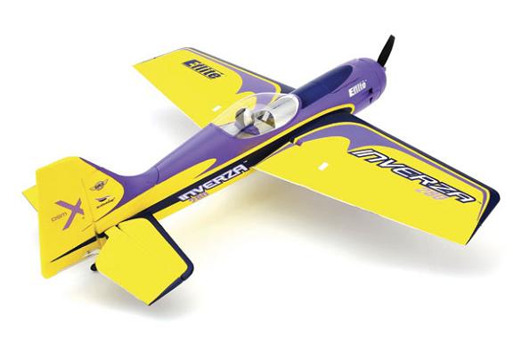 Радиоуправляемый самолет E-Flite Inverza 280Игрушечные машинки и техника<br>Inverza™ 280 BNF от E-flite является совместной оригинальной конструкцией Quique Somenzini, Kevin Kimball и Mirco Pecorari. Никогда прежде пилотажные самолеты не были разработаны такой динамичной командой. Это уникальное сочетание производительности, изящества и потенциала, обладает исключительными пилотажными характеристиками для 3D полета, размера позволяет насладиться полетом в удобном парке или небольшом поле.<br><br>- Требуется минимальная сборка и настройка;<br>- Полая конструкция из пеноматериала усиленная карбоновыми волокнами;<br>- Высокоскоростные цифровые сервоприводы...<br>