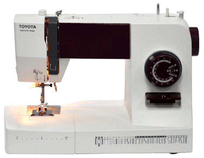Швейная машина Toyota ERGO34DШвейные машины<br><br><br>Тип: электромеханическая<br>Тип челнока: ротационный горизонтальный<br>Вышивальный блок: нет<br>Количество швейных операций: 31<br>Выполнение петли: полуавтомат<br>Максимальная длина стежка: 4.0 мм<br>Максимальная ширина стежка: 5.0 мм<br>Потайная строчка : есть<br>Эластичная строчка : есть<br>Эластичная потайная строчка: есть