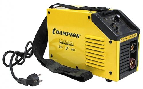 Сварочный аппарат Champion IW-140/6 ATLСварочные аппараты<br><br><br>Тип: сварочный инвертор<br>Сварочный ток (MMA): 10-140 А<br>Напряжение на входе: 160-260 В<br>Количество фаз питания: 1<br>Тип выходного тока: постоянный<br>Мощность, кВт: 6.0<br>Продолжительность включения при максимальном токе: 60 %<br>Диаметр электрода: 1.60-3.20 мм<br>Антиприлипание: есть<br>Горячий старт: есть