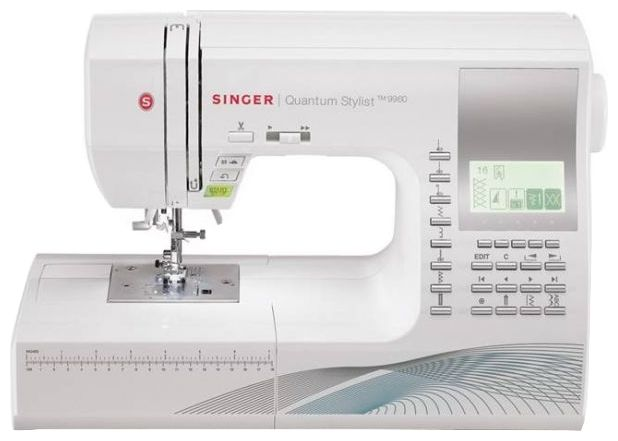 Швейная машина Singer Quantum 9960 (QS9960)Швейные машины<br>Singer QS-9960: никаких долгих настроек!<br>Теперь для того, чтобы выбрать нужную строчку, вам не придется долго настраивать машинку. Ведь швейная машина Singer QS-9960 все делает самостоятельно! 700 швейных операций, компьютеризированное управление с помощью дисплея и функциональных кнопок, возможность вышивки русского и латинского алфавита — и это, представьте себе, только небольшая часть возможностей модели QS-9960!<br>Вам хотелось бы купить такую электронную помощницу по выгодной цене? Тогда скорее делайте свой заказ на technomart.ru! Машинка уже готова стать вашим...<br><br>Тип: электронная<br>Тип челнока: ротационный горизонтальный<br>Количество швейных операций: 700<br>Выполнение петли: автомат<br>Максимальная ширина стежка: 7.0 мм<br>Оверлочная строчка : есть<br>Потайная строчка : есть<br>Эластичная строчка : есть<br>Эластичная потайная строчка: есть<br>Кнопка реверса: есть