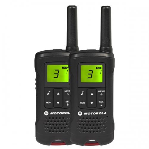 Комплект радиостанций Motorola TLKR-T60Радиостанции<br><br><br>Тип: Комплект радиостанций<br>Стандарт: PMR<br>Диапазон частот: 446-446.1 МГц<br>Радиус действия: 8 км<br>Количество каналов: 8<br>Функция монитора канала связи: есть