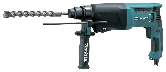 Перфоратор Makita HR2600Перфораторы<br><br><br>Тип крепления бура: SDS-Plus<br>Потребляемая мощность: 800 Вт<br>Макс. энергия удара: 2.4 Дж<br>Макс. диаметр сверления (дерево): 32 мм<br>Макс. диаметр сверления (металл): 13 мм<br>Макс. диаметр сверления (бетон): 26 мм<br>Питание: от сети<br>Шуруповерт: есть<br>Возможности: реверс, электронная регулировка частоты вращения
