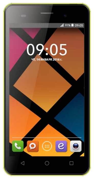 Мобильный телефон BQ BQS-5020 Strike YellowМобильные телефоны<br><br>