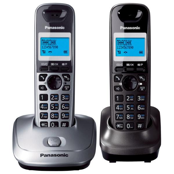 Радиотелефон Panasonic KX-TG2512RU1Радиотелефон Dect<br>Panasonic kx tg2512ru1 — связь на высшем уровне!<br>Вы хотите приобрести сразу два современных радиотелефона по одной цене? Вам очень повезло, ведь в комплект к радиотелефону Panasonic kx tg2512ru1 входит еще и дополнительная трубка, которая является полноценным функциональным радиотелефоном!<br>В этом телефоне вы найдете полный набор функций, необходимых для качественной и удобной связи: внутренняя и конференц-связь, встроенная телефонная книга на 50 номеров, автоматический определитель номера, громкая связь, экономный режим. Такой современный и очень стильный радиотелефон...<br><br>Тип: Радиотелефон<br>Количество трубок: 2<br>Рабочая частота: 1880-1900 МГц<br>Стандарт: DECT<br>Радиус действия в помещении / на открытой местност: 50 / 300<br>Время работы трубки (режим разг. / режим ожид.): 18/170<br>Полифонические мелодии: 10<br>Дисплей: Есть<br>Возможность настенного крепления: Есть<br>Журнал номеров: 50