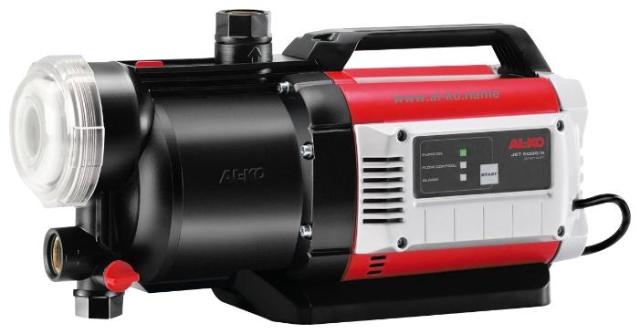 Насос AL-KO Jet 6000/5 PremiumНасосы<br>Большой напор и высокая производительность. Легко очищаемый предварительный XXL-фильтр. Встроенная защита от сухого хода. Надежный в работе, с низким уровнем шума. Низкий уровень потребления электроэнергии.<br><br>Глубина погружения: 8 м<br>Максимальный напор: 60 м<br>Пропускная способность: 6 куб. м/час<br>Напряжение сети: 220/230 В<br>Потребляемая мощность: 1400 Вт<br>Качество воды: чистая<br>Установка насоса: горизонтальная